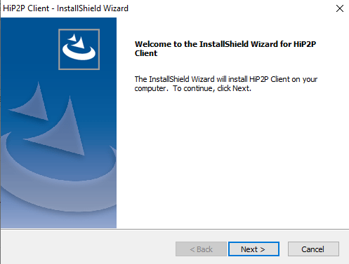 Starting of set up wizard on PC