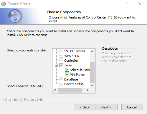 Select features and functions of the application.