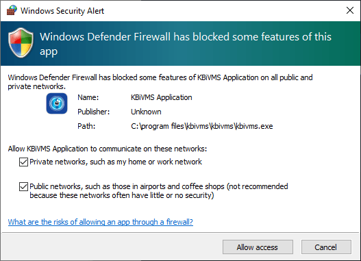 Provide the firewall access