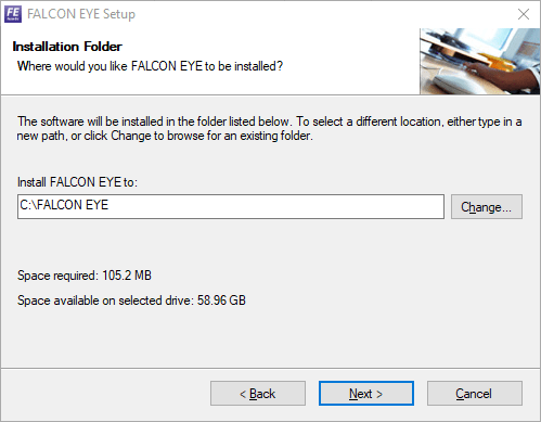 Select the directory folder for storing the files