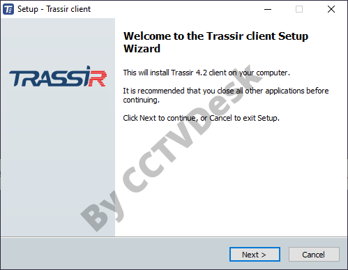 Start the installing wizard on PC