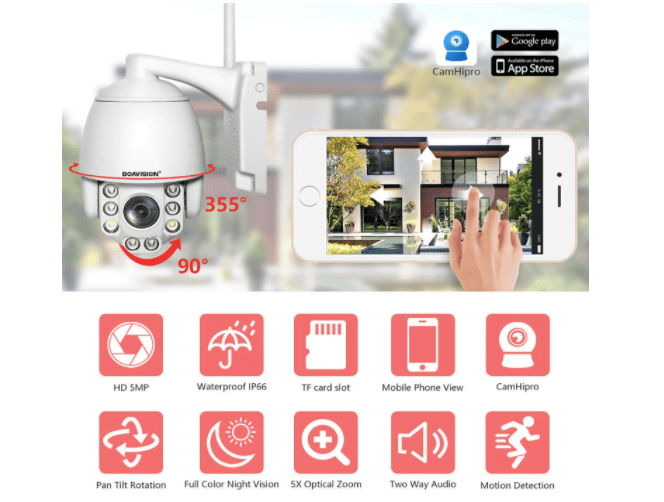 Boavision 5MP PTZ Wifi IP Camera 2