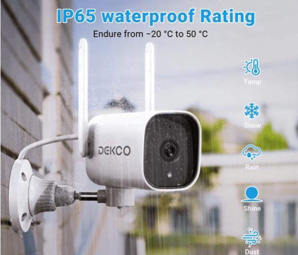 DEKCO 1080P Pan Rotating 180° Outdoor Security Camera 15