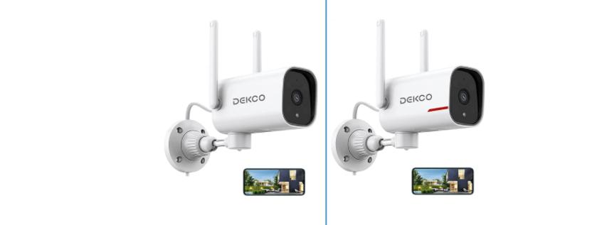 DEKCO 1080P Pan Rotating 180° Outdoor Security Camera 18