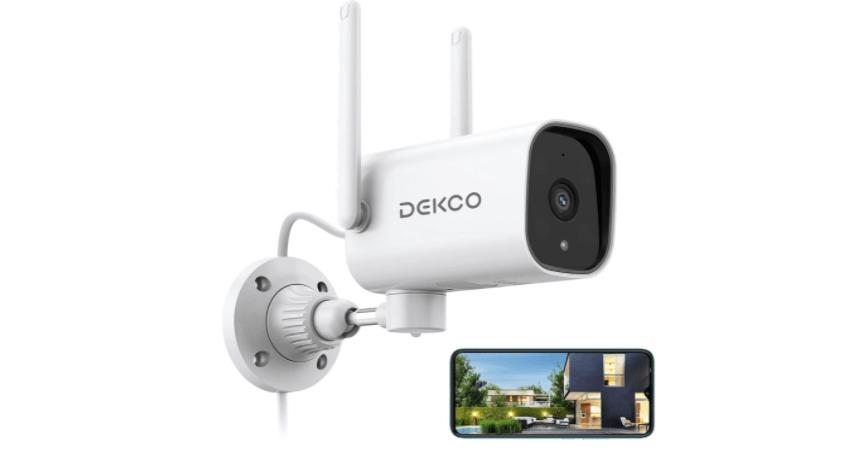DEKCO 1080P Pan Rotating 180° Outdoor Security Camera