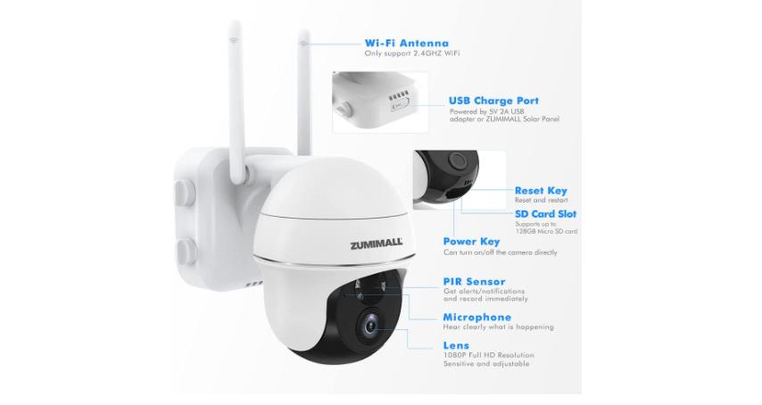 Zumimall PTZ Wireless camera 7