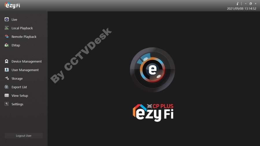 Home screen of the Ezyfi app