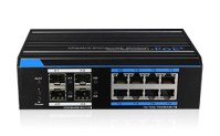 8 Ports Industrial Full Gigabit PoE Managed Switch