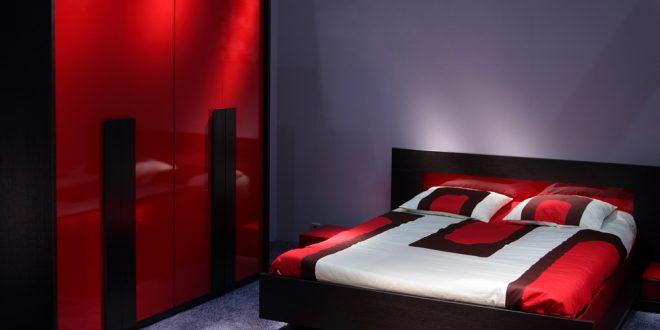 ديكورات غرف نوم باللون الاحمر اللون الاحمر يضيف البهجة كيوت
