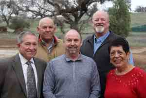 CCWD Board of Directors, 2018. From left, Russ Thomas, Jeff Davidson, Scott Ratterman, Terry Strange and Bertha Underhill.