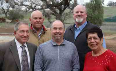 CCWD Board of Directors, 2018. From left, Russ Thomas, Jeff Davidson, Scott Ratterman, Terry Strange and Bertha Underhill.