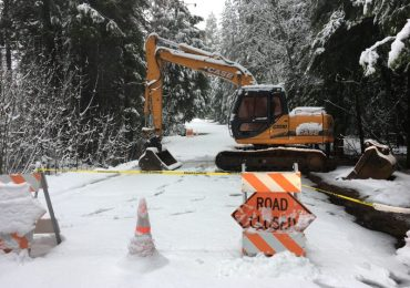 Blagen Road Remains Closed in White Pines at Big Trees Creek Crossing