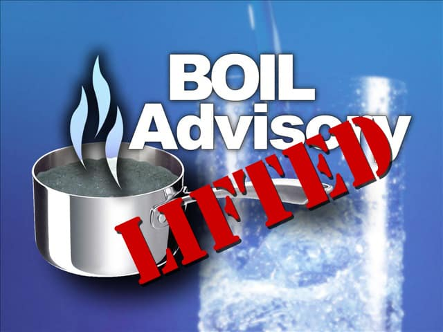 Boil Water Advisory Lifted