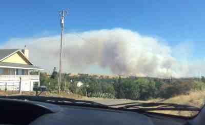 Smoke from the Waverly Fire near Milton.