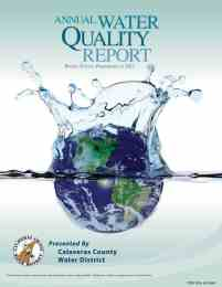 Water Quality Report Cover for 2017.