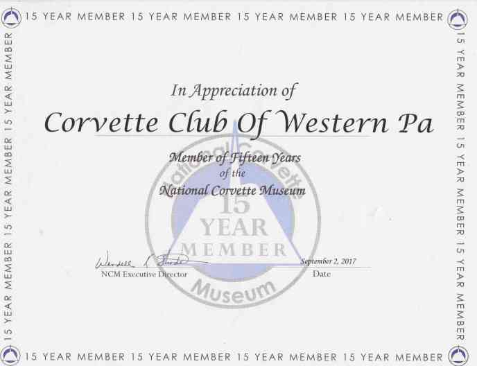 NCM 15Yr Certificate