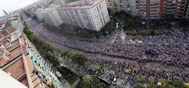 El soberanismo muestra su fuerza en la Diada de Cataluña más electoral