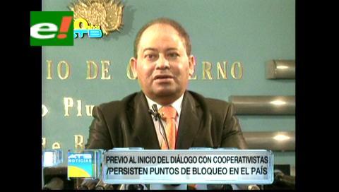 Gobierno y cooperativistas acuerdan reanudar el diálogo en Oruro