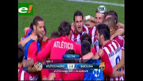 El Atlético Madrid derrumbó al Barcelona y llegó a semis tras 40 años
