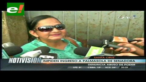 Policía impide violentamente el ingreso de la Senadora Gonzales al penal de Palmasola