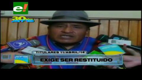 Titulares: Magistrado Guarachi se resiste a dejar el cargo