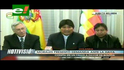 Morales presenta memoria a la CIJ y pide justicia en el proceso marítimo contra Chile