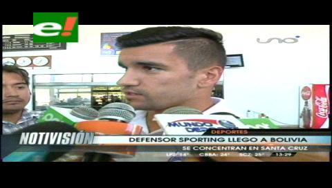 Defensor Sporting llegó a Santa Cruz