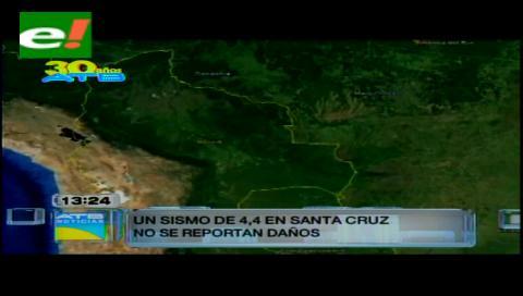 Un sismo superficial sacudió al sur de Santa Cruz
