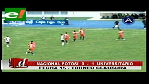 Universitario sacó un valioso triunfo de 1-0 contra Nacional