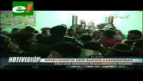 Clausuran radios aparentemente ilegales en El Alto