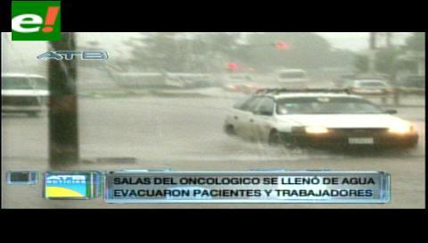 Copiosa lluvia en Santa Cruz inunda varias calles y avenidas