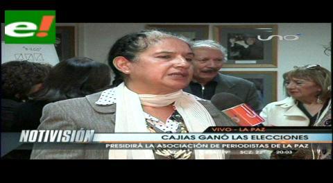 Lupe Cajías es elegida como nueva presidenta de la APLP