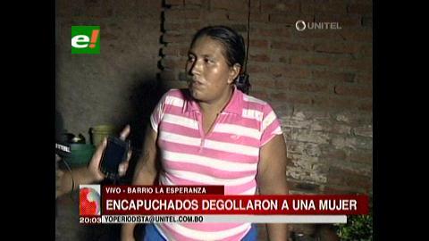 Santa Cruz: Degüellan a una mujer en su casa