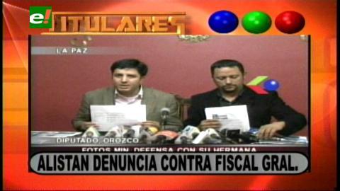 Titulares: Oposición alista denuncia contra el Fiscal General por incumplimiento de deberes