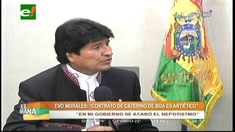 """Morales: """"En mi Gobierno se acabó el nepotismo"""""""