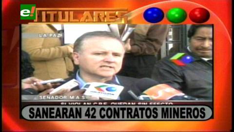 Titulares: Asamblea Legislativa saneará 42 contratos mineros