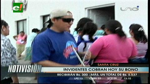 Santa Cruz: Entregan bono a las personas invidentes