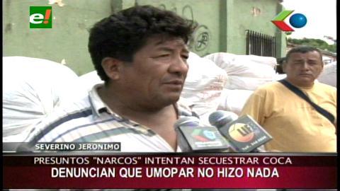 "Presuntos ""narcos"" intentaron robar 20 taques de hoja de coca"