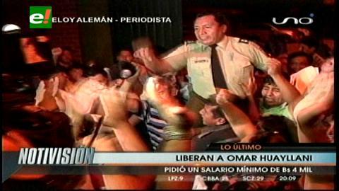 Juez libera a Omar Huayllani, Presidente de la Anssclapol