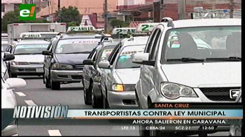 Santa Cruz: Norma que busca regular el transporte será consensuada en mesas de trabajo