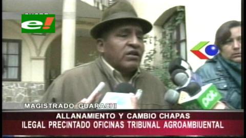 Notarios precintaron oficina de la Presidencia del Tribunal Agroambiental