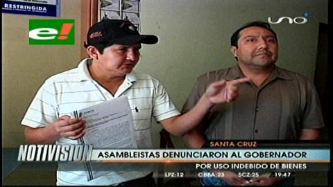 Dirección Anticorrupción: Asambleístas del MAS denuncian a Rubén Costas por uso indebido de bienes