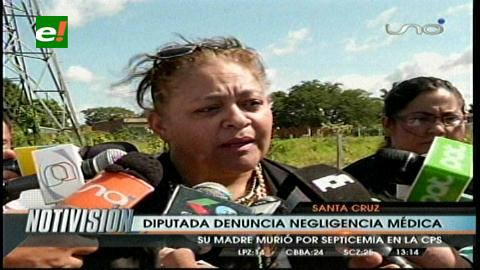 Madre de la diputada Tejada muere por presunta negligencia médica en la CPS