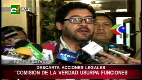 Diputado Elío descarta acciones legales contra la Comisión de la Verdad