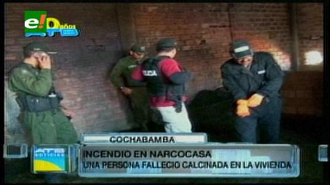 Cochabamba: Una persona muere calcinada al incendiarse una narco-casa