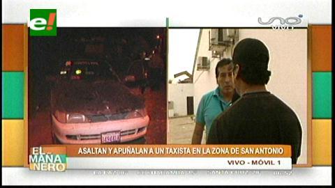 Taxista impide que su pasajero lo atraque, pero queda herido