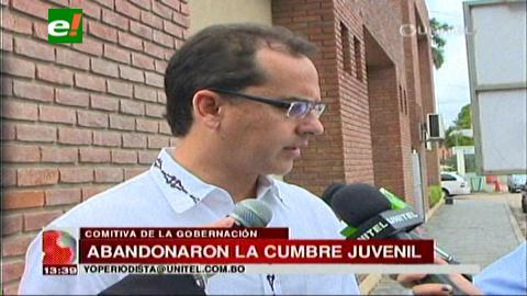 "Gobernación cruceña califica a la Cumbre Juvenil como ""mitín político"""