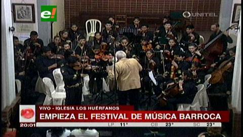 La orquesta San José Patriarca abrió el festival barroco en Santa Cruz