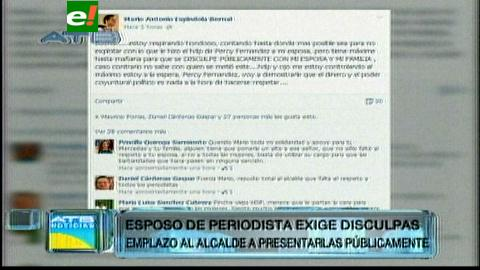 Esposo de la periodista acosada emplaza a Percy Fernández a que presente disculpas públicas