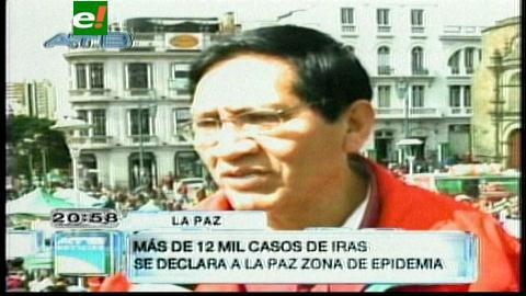 La Paz registra el mayor número de infecciones respiratorias